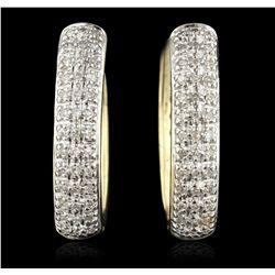 14KT Yellow Gold 0.50ctw Diamond Earrings GB4530