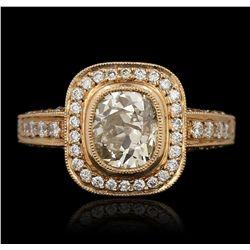 18KT Rose Gold 2.40ctw Diamond Ring LAJB108