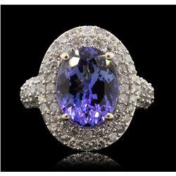 14KT White Gold 5.11ct Tanzanite and Diamond Ring RM1850