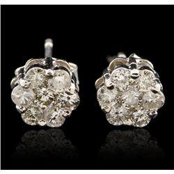 14KT White Gold 0.70ctw Diamond Earrings GB4518
