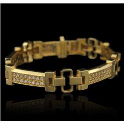 14KT Yellow Gold 2.20ctw Diamond Bracelet LAJB25