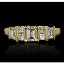 14KT Yellow Gold 1.01ctw Diamond Ring GB4479