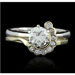 14KT Yellow Gold 1.02ctw Diamond Wedding Ring Set GB2550