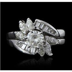 14KT White Gold 1.60ctw Diamond Ring GB2382