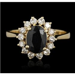 14KT Yellow Gold 1.00ct Sapphire and Diamond Ring GB3365