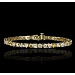14KT Yellow Gold 7.26ctw Diamond Tennis Bracelet GB4603