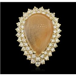 14KT Yellow Gold 23.61ct Quartz and Diamond Ring LAJB31