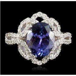 14KT White Gold 3.72ct Tanzanite & Diamond Ring RM1224