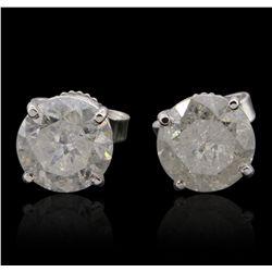 14KT White Gold 2.71ctw Diamond Stud Earrings GB4823