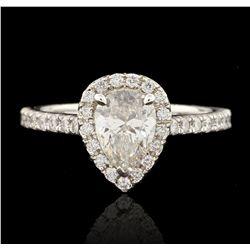 14KT White Gold 1.07ct SI1/F-G EGL USA Certified Diamond Ring HK19
