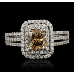 14KT White Gold 1.02ct SI-2/Fancy Brown Diamond Ring RM1866