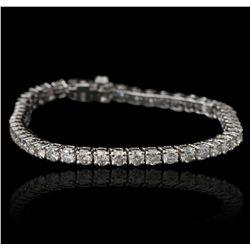 14KT White Gold 7.49ctw Diamond Tennis Bracelet A5392