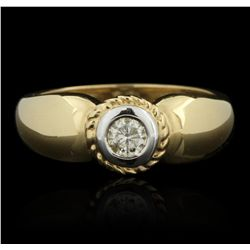 14KT Yellow Gold 0.32ctw Diamond Ring GB2160