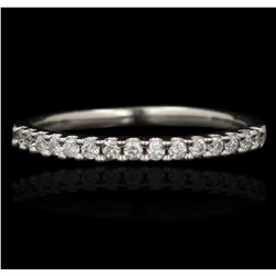 14KT White Gold 0.18ctw Diamond Ring GB4126