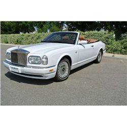 2001 White Rolls Royce Corniche