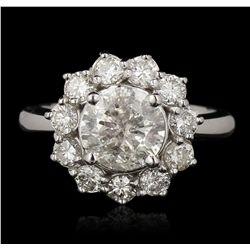 14KT White Gold 2.72ctw Diamond Ring A6812