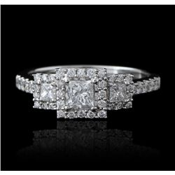 14KT White Gold 1.00ctw Diamond Ring GB2386