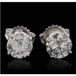 14KT White Gold 2.10ctw Diamond Stud Earrings GB4693