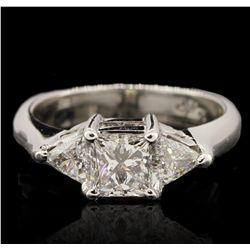 14KT White Gold 1.21ctw Princess Cut Diamond Engagement Ring JRM341
