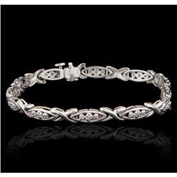 10KT White Gold 0.25ctw Diamond Bracelet GB2907