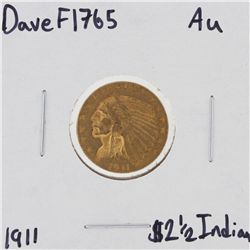 1911 $2 1/2 AU Indian Head Quarter Eagle Gold Coin DaveF1765