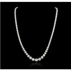 18KT White Gold 15.02ctw Diamond Necklace A6771