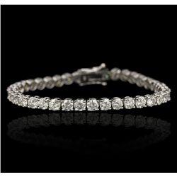 18KT White Gold 13.03ctw Diamond Tennis Bracelet A6759