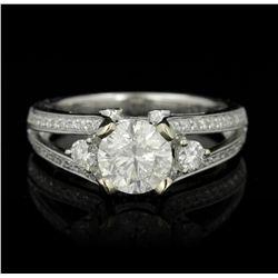 14KT White Gold 1.36ct I-1/I Diamond Ring RM1170