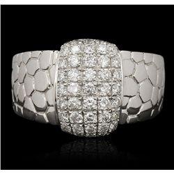 14KT White Gold 0.80ctw Diamond Ring FJM3174