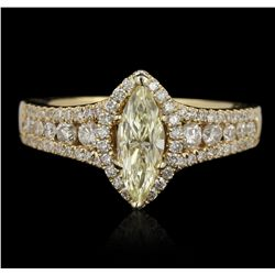 14KT Yellow Gold 1.48ct GIA Certified Diamond Unity Ring A5982