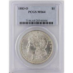 1883-O Morgan Silver Dollar PCGS Graded MS64 SCE1179