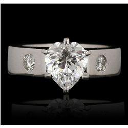 14KT White Gold 1.51ct VVS2/D EGL USA Certified Diamond Ring GB3498