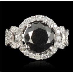 14KT White Gold 5.21ct Black Diamond Ring RM1206