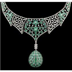 14KT White Gold 5.35ctw Diamond Necklace FJM3257