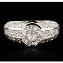 14KT White Gold 2.90ctw Diamond Ring GB4545