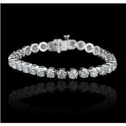14KT White Gold 11.56ctw Diamond Tennis Bracelet A5789
