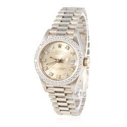 Ladies Rolex 18KT White Gold Diamond DateJust Wristwatch GB2012
