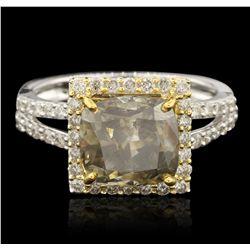 14KT White Gold 4.91ctw Diamond Ring RM1599