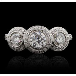 14KT White Gold 1.40ctw Diamond Ring GB4819