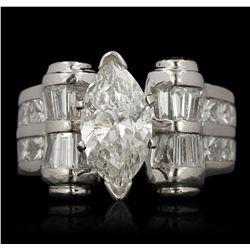 Platinum 1.57ct SI3/G EGL USA Certified Diamond Ring GB3500