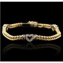 18KT Two Tone Gold 0.70ctw Diamond Bracelet GB4501