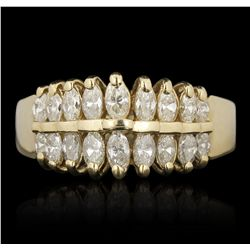 14KT Yellow Gold 0.96ctw Diamond Ring FAA70