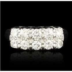 14KT White Gold 0.90ctw Diamond Ring GB1869