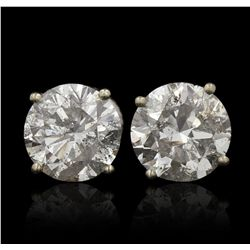 14KT White Gold 4.11ctw Diamond Solitaire Earrings A5757