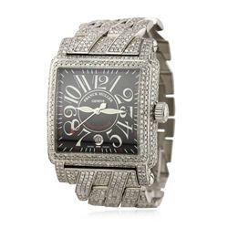 Gents Franck Muller Cortez Conquistador 24.55ctw Diamond Wristwatch A5834