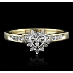 14KT Yellow Gold 0.20ctw Diamond Ring GB2773