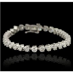 14KT White Gold 9.40ctw Diamond Tennis Bracelet A6208