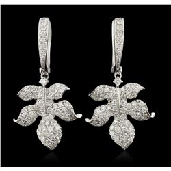 14KT White Gold 1.80ctw Diamond  Earrings FJM3248