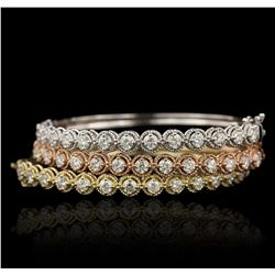14KT Tri Gold 6.93ctw Diamond Bangle Bracelet A7186