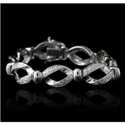14KT White Gold 1.00ctw Diamond Bracelet GB2410